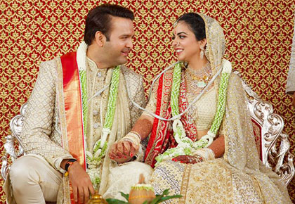 Latest News from India - Get Ahead - Careers, Health and Fitness, Personal Finance Headlines - First look: Isha Ambani weds Anand Piramal
