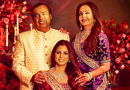 Latest News from India - Get Ahead - Careers, Health and Fitness, Personal Finance Headlines - Isha Ambani stuns in a Sabyasachi lehenga
