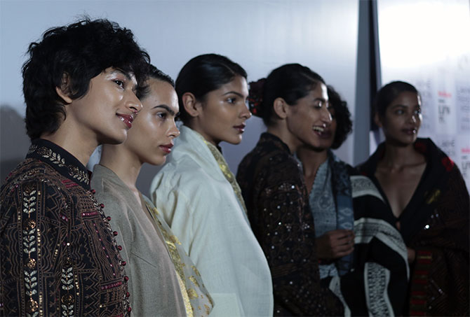 backstage at lakme fashion week