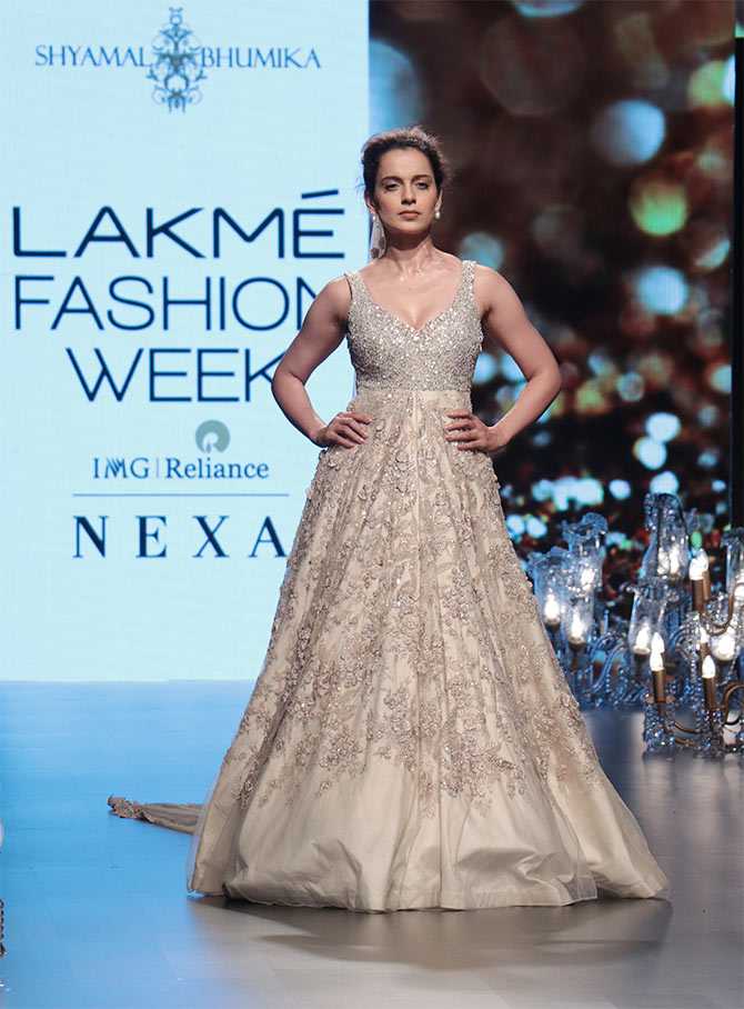 75d5546fa113 Shyamal & Bhumika at LFW: Make way for the Queen of Bollywood ...