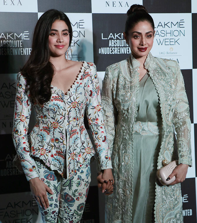 Janhvi and Sridevi Kapoor