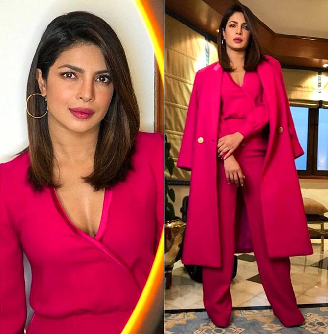 Priyanka Chopra in a suit