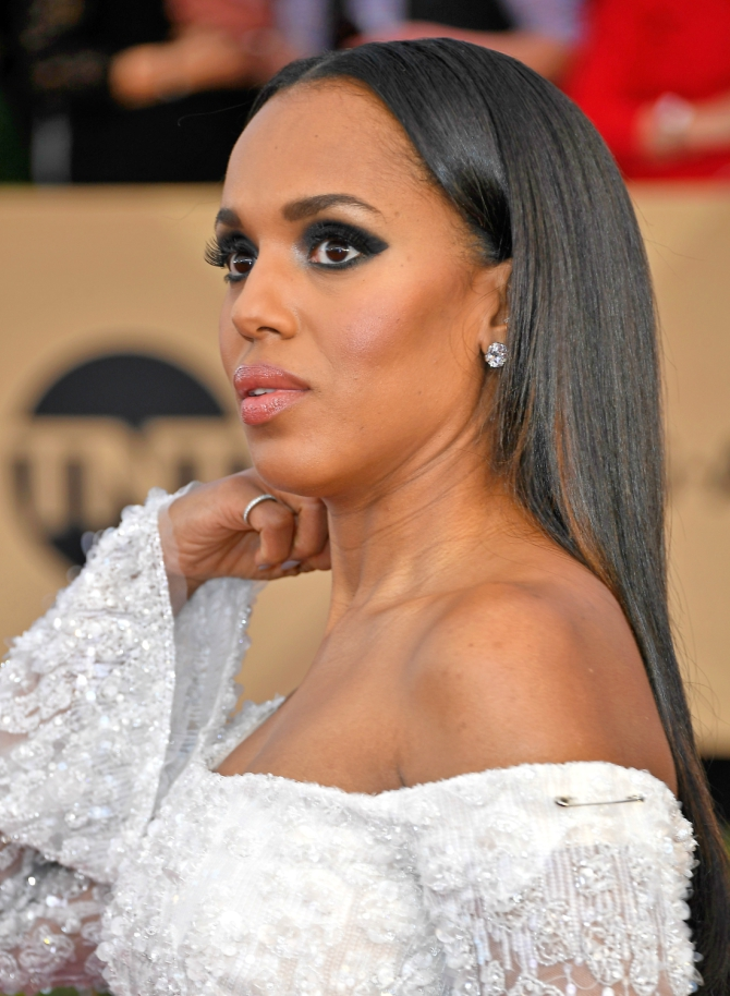 Kerry Washington safety pin SAG Awards