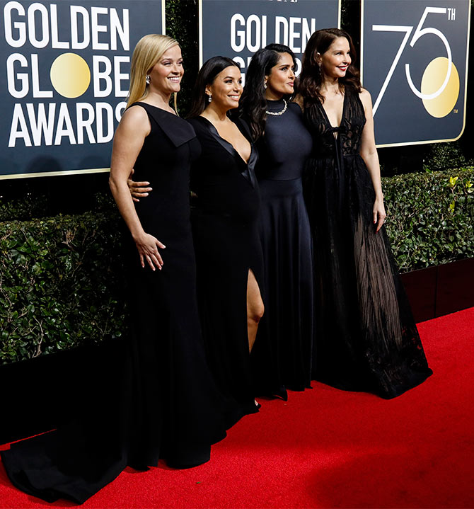 Golden Globes black red crapet