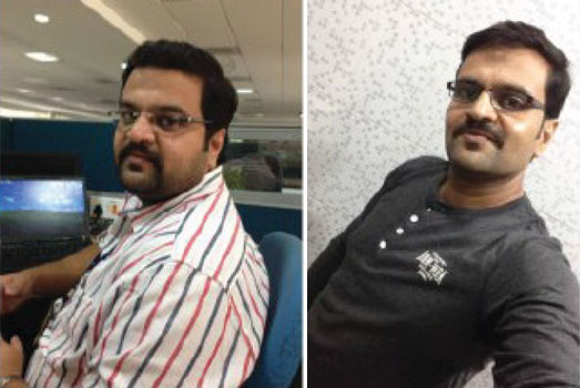 Satyendra Sahay before and after losing weight