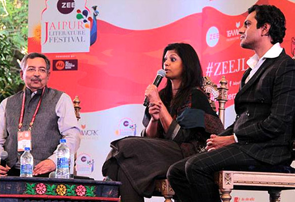 Nandita Das and Nawazuddin at Jaipur Literature Festival