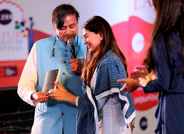 Shashi Tharoor with Gurmehar Khan