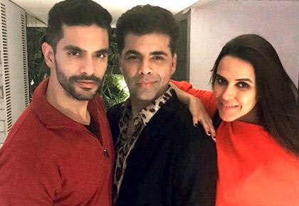 How Karan Johar played cupid in Neha-Angad's love story