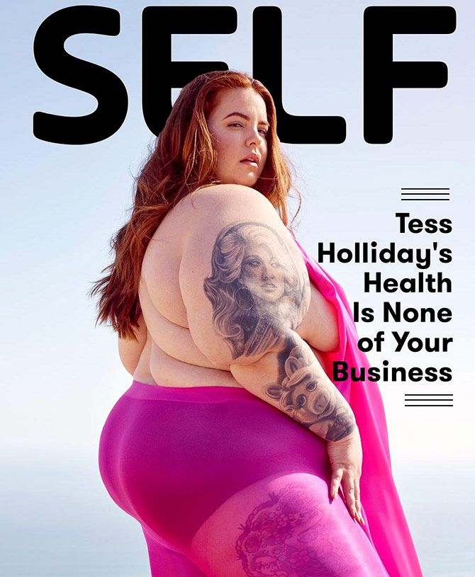 Self magazine covers Tess Holliday