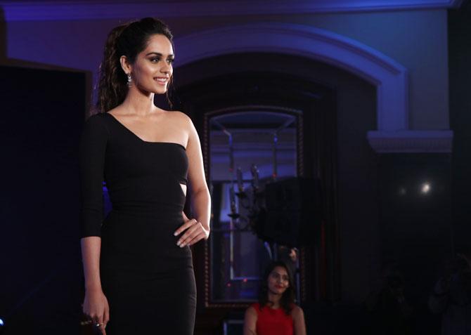Image result for Manushi Chhillar's little black dress