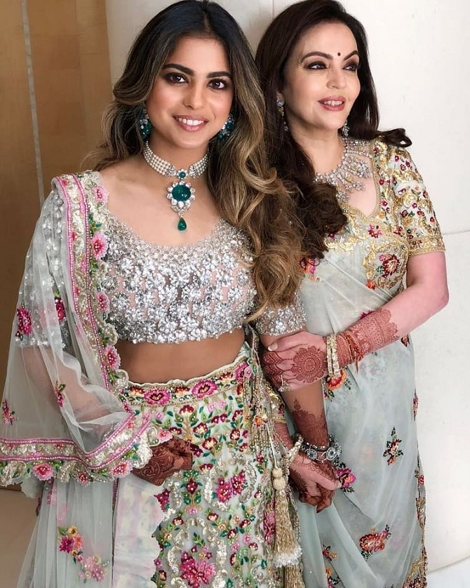 Photos! Shloka and Akash Ambani's starry engagement party - Rediff