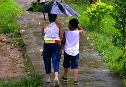 Monsoon pix: A walk in the rain
