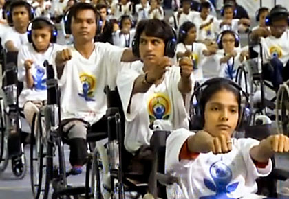 WATCH: How 800 differently-abled set a world record