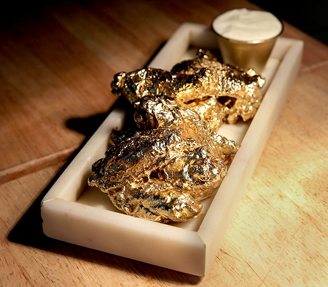 How 24-karat gold chicken wings are made
