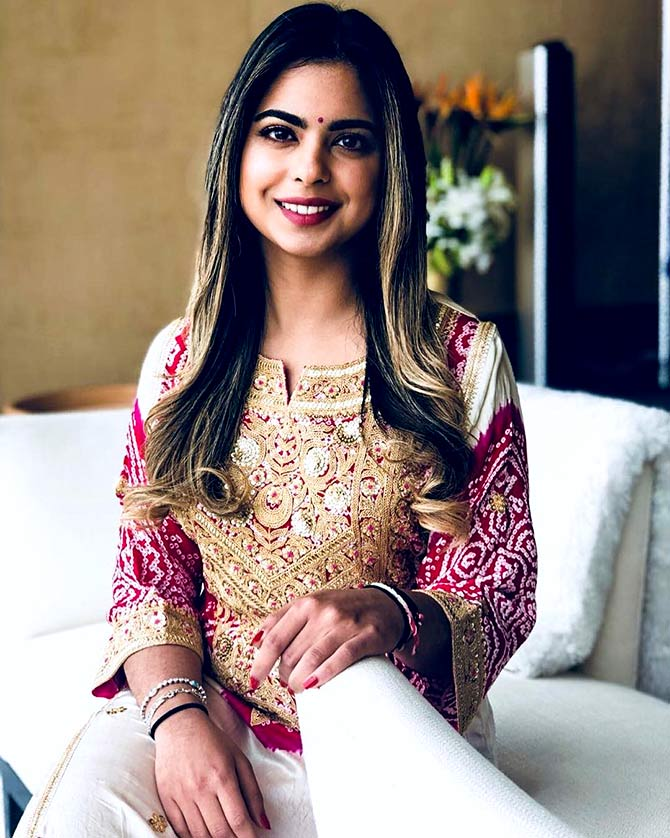 a61d1b3b3e9 Who dresses bride to-be Isha Ambani the best  - Rediff.com Get Ahead