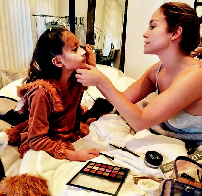 Jlo with her daughter Emme