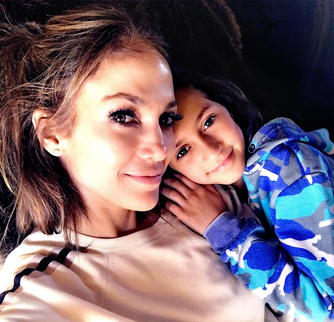 Jlo with her son