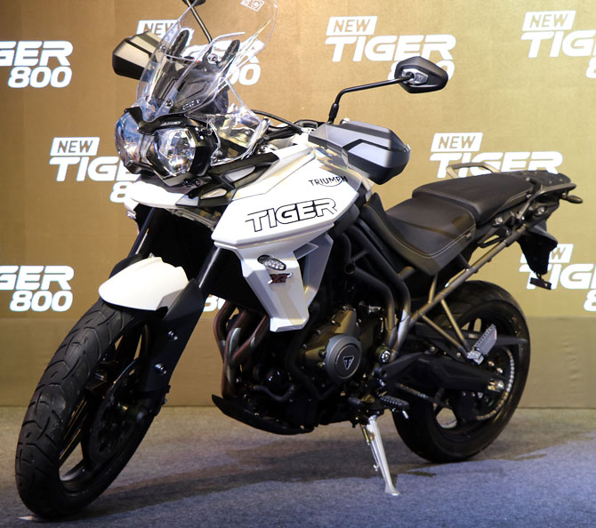 Triumph launches three Tiger 800 motorbikes