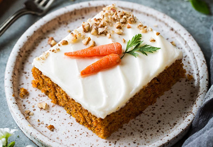 Recipes: Lemon pudding, Easter Carrot Cake
