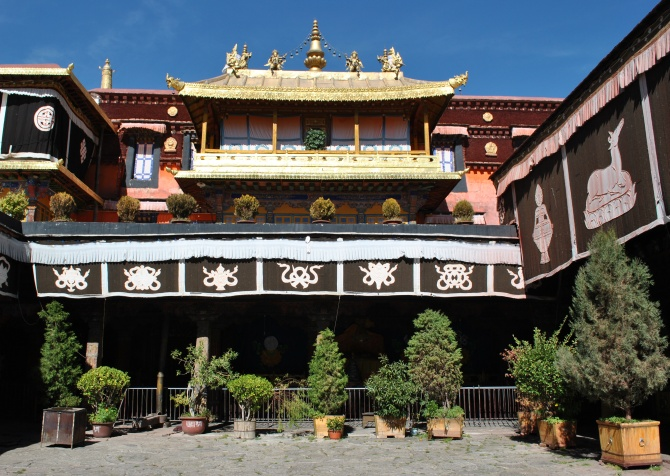 The Jokhang Temple, one of several Unesco World Heritage Sites in Lhasa