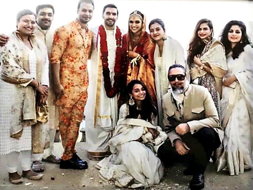 Deepika's bridal team