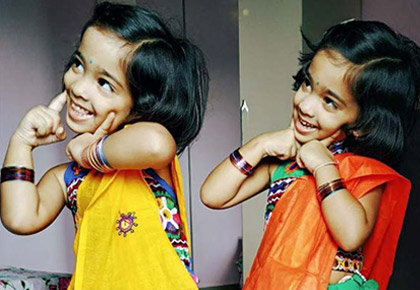 Navratri pix: Happiness comes in small packages