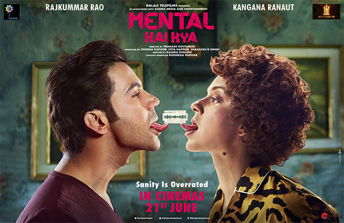 Rajkummar Rao and Kangana Ranaut in Mental Hai Kya