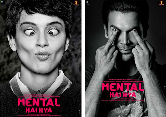 Kangana Ranaut and Rajkummar Rao in Mental Hai Kya