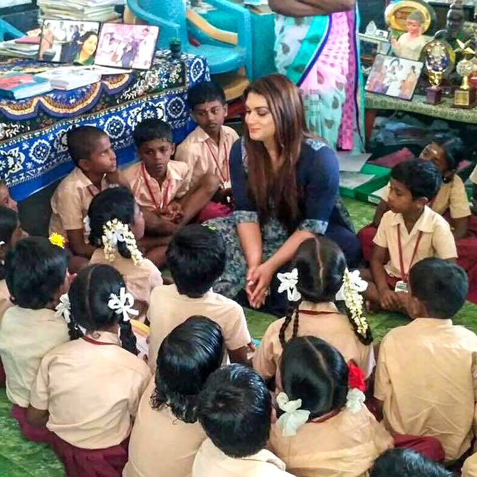 Apsara Reddy with kids
