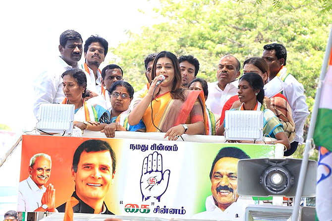 Apsara Reddy on campaign trail in Tamil Nadu