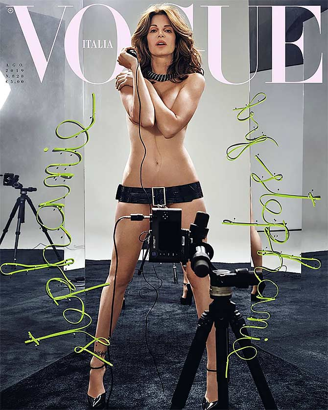 Whoa! Stephanie Seymour poses nude for mag cover