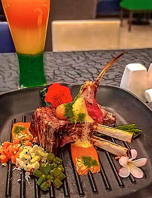 Braised Lamb Chops, Trio Poriyal, Laal Maas Jus and Spinach Crisp by Executive Chef Avinash Kumar, Novotel Imagica Khopoli