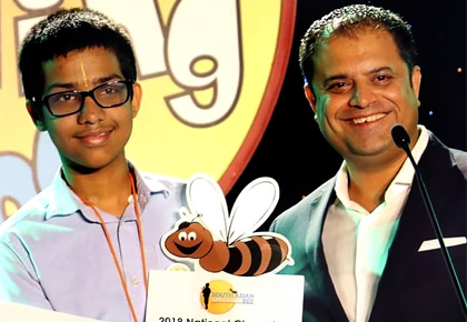 Navneeth Murali is 2019's Spelling Bee Champion