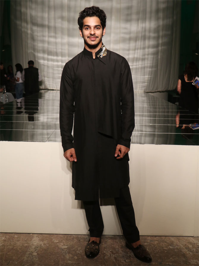 Ishan Khatter attends Manish Malhotra's show at Lakme Fashion Week Winter/Festive 2019 in Mumbai