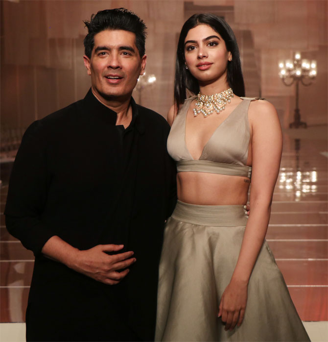 Khushi Kapoor attends Manish Malhotra's show at Lakme Fashion Week Winter/Festive 2019 in Mumbai
