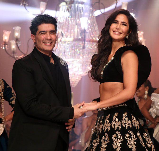 Manish Malhotra with Katrina Kaif at Lakme Fashion Week