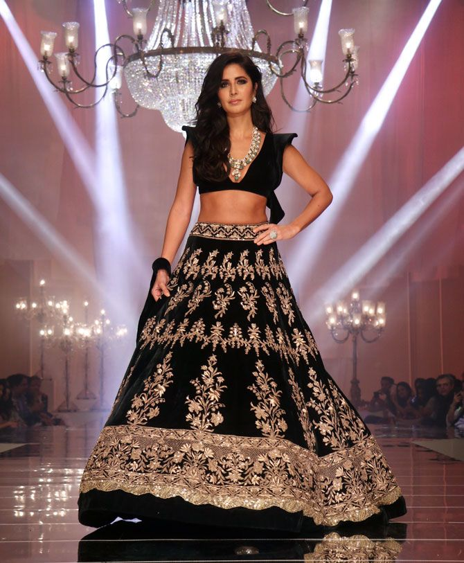 Katrina Kaif walks for Manish Malhotra at Lakme Fashion Week Winter Festive 2019