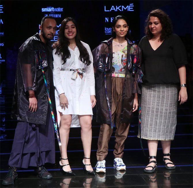 Sobhita Dhulipala walks at Lakme Fashion Week