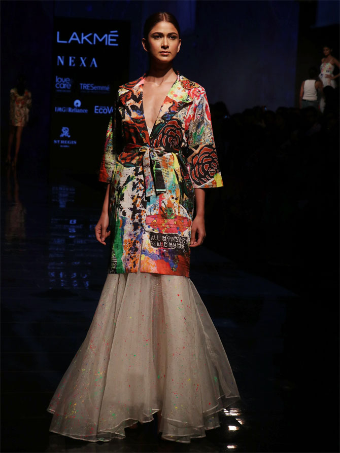 Sobhita Dhulipala walks at Lakme Fashion Week