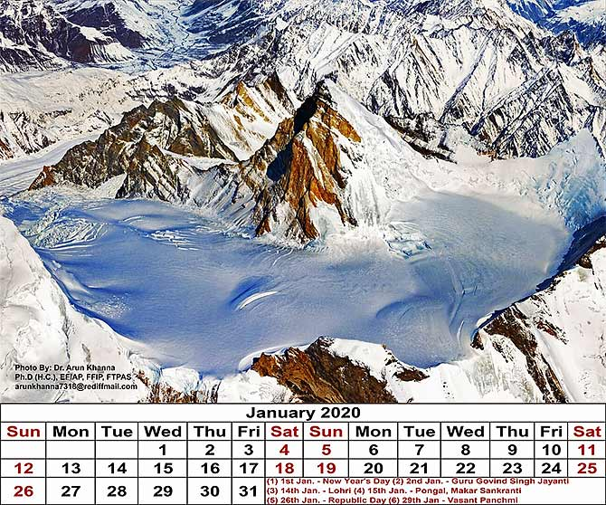 Arun Khanna's travel inspired e-calendar for 2020