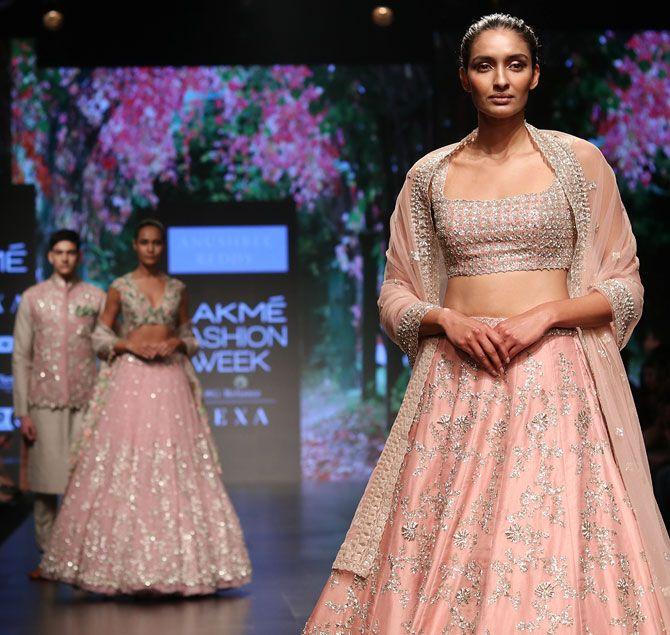 Kangana Ranaut walks for Anushree Reddy at Lakme Fashion Week