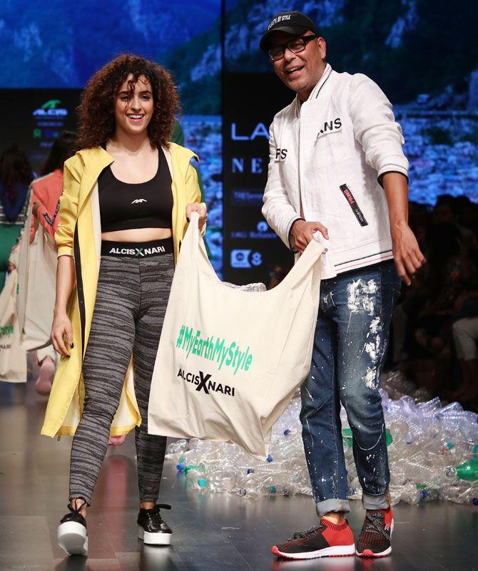Sanya Malhotra walks for Narendra Kumar
