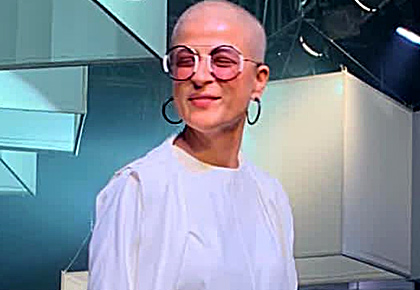 Pix: Tahira takes her bald look to the runway