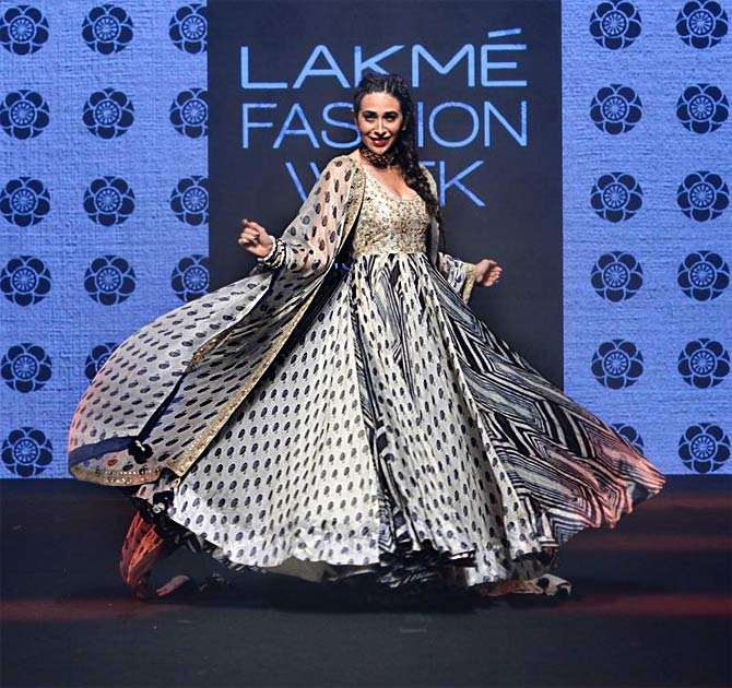 Karisma Kapur at Lakme Fashion Week summer/resort 2019