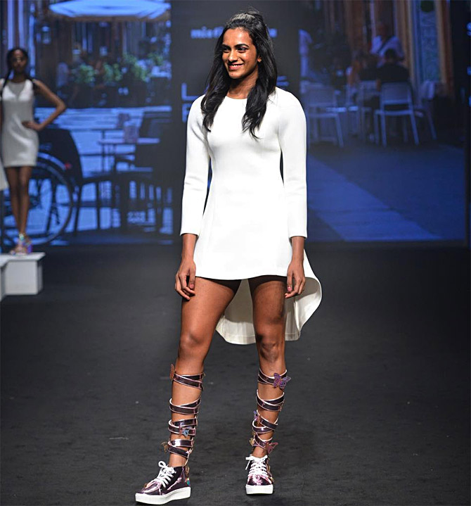PV Sindhu at Lakme Fashion Week summer/resort 2019