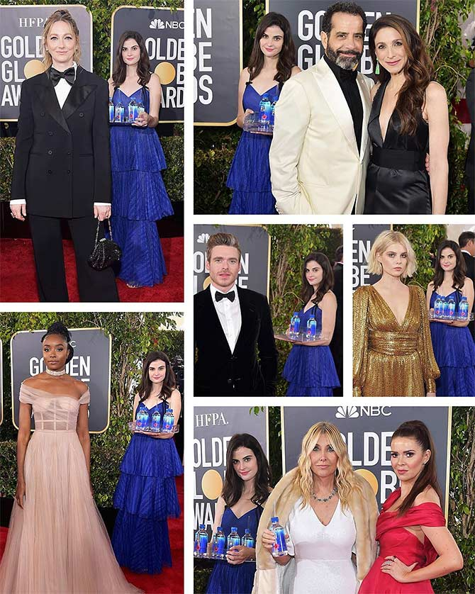 Fiji water girl at Golden Globes is model Kelleth Cutbert