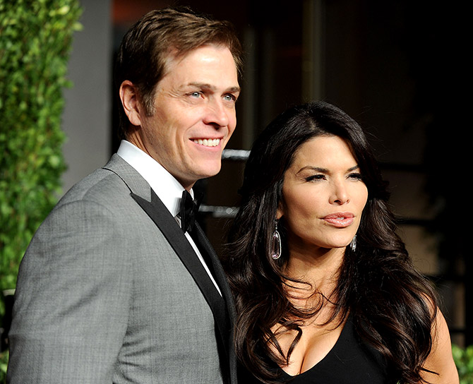 Lauren Sanchez with Patrick Whitesell