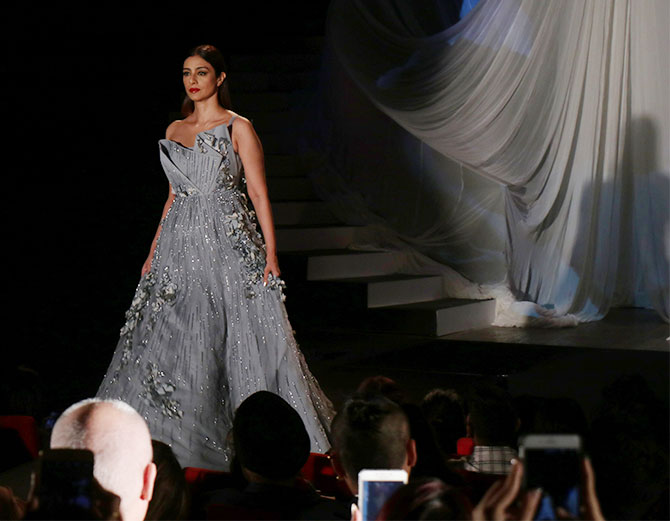 Tabu and Karan Johar turn showstoppers for Gaurav Gupta at Lakme Fashion Week 2019 in Mumbai