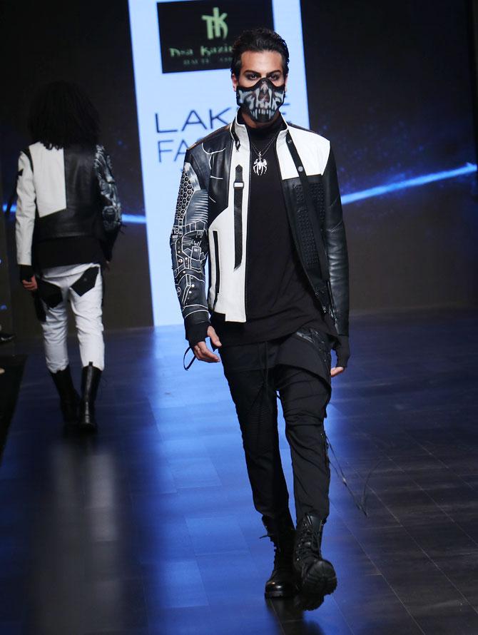 Gurmeet Choudhary, Nikhil Chinappa, Prathamesh Maulingkar walk for Asa Kazingmei at Lakme Fashion Week 2019