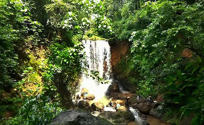 Kesarval waterfall